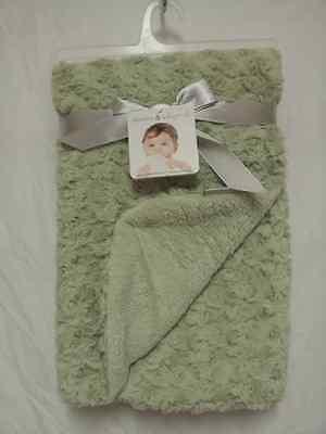 BLANKETS /& BEYOND PASTEL GREEN SWIRL BABY SHOWER BLANKET LOVIE LOVEY NUNU~NWT~PL