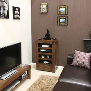 Shiro walnut furniture entertainment hi fi unit cabinet ...