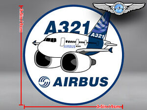 AIRBUS A321 A 321 PUDGY ROUND DECAL / STICKER