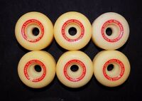 Vintage 90's O/s Skateboard Wheels (6) Real Small Wheels 53mm 95a