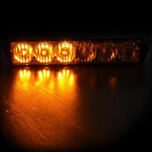 6 Led Mount Amber Strobe Flashing Light Recovery Lightbar Beacon Truck Car