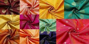 Brocade-Silk-Banarasi-Fabric-Woven-Work-Sewing-Dress-Accessories-Decor-Crafts