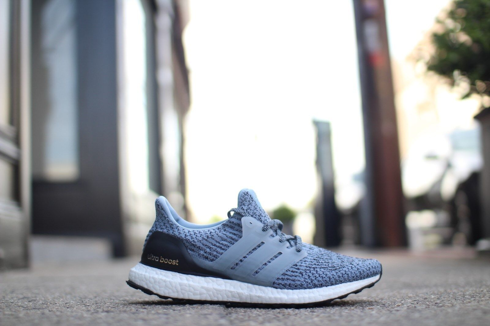 214e178354a97 adidas Ultra Boost 3.0 Primeknit Blue Black White Oreo - 8.5uk 42.7 ...