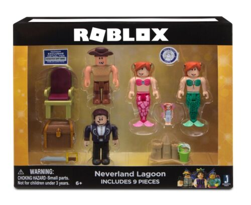 ROBLOX NEVERLAND LAGOON 4 FIGURE PACK VIRTUAL ITEM CODE BRAND NEW