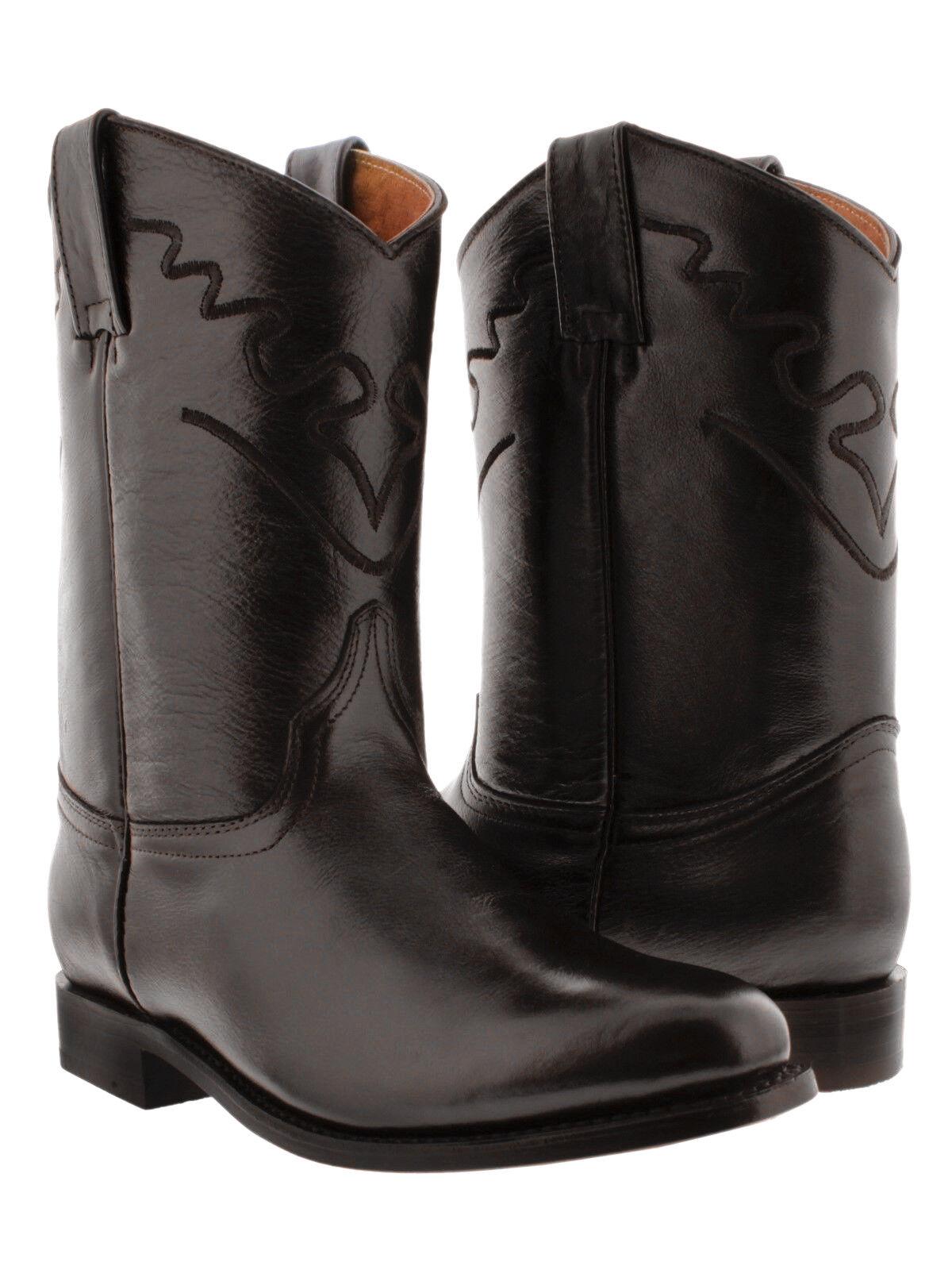 Uomo Chocolate Brown All Real Genuine Pelle Western Western Western Riding Cowboy Stivali Roper 7a4ba5