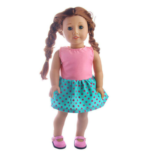 18 inch American Girl Doll Clothes Accessories Handmade Dress Doll Set