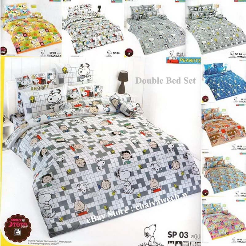 Snoopy Pillow And Throw Set : PEANUTS SNOOPY Official License Bedding Vintage TOTO Bed Sheet Pillow Case 4 pcs eBay