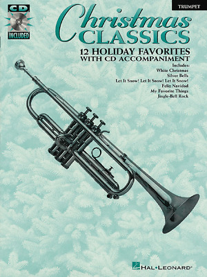 christmas classics instrumental play along for trumpet music book cd new sale ebay. Black Bedroom Furniture Sets. Home Design Ideas