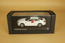 1/43 bmw 650i coupe white color die cast model
