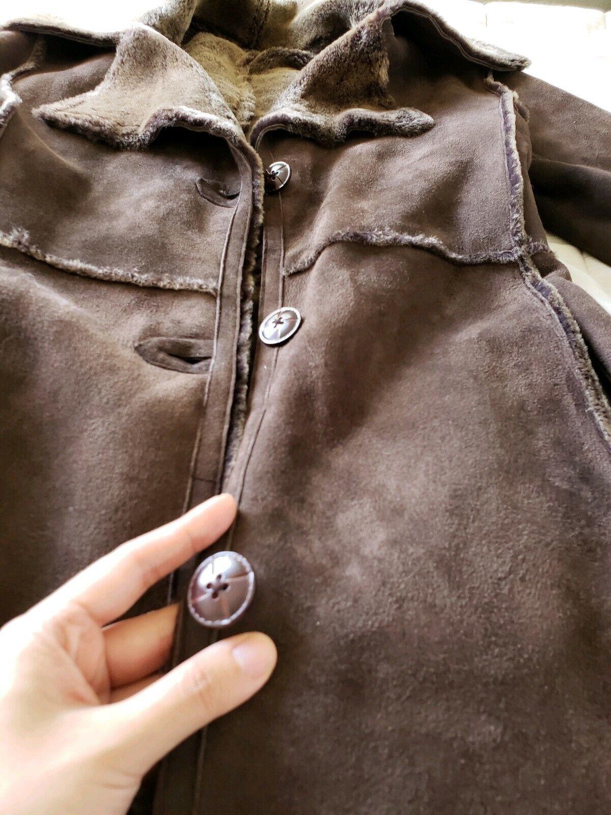 Workshop NY full length shearling coat lightweigh… - image 8