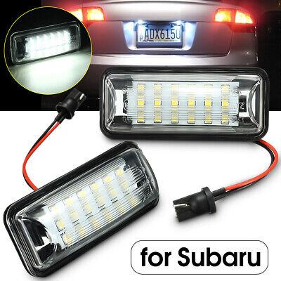 Fits Subaru Impreza GD 2.0 WRX STi White 12-SMD LED COB Number Plate Light Bulbs