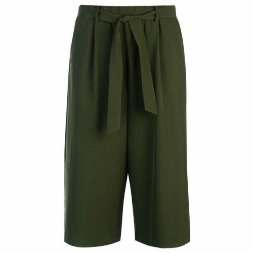 Golddigga Tie Trousers Ladies Culottes Pants Bottoms Cotton Loose Fit Colour