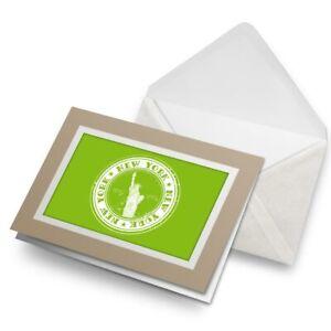 Greetings-Card-Biege-New-York-USA-America-Travel-Stamp-5954