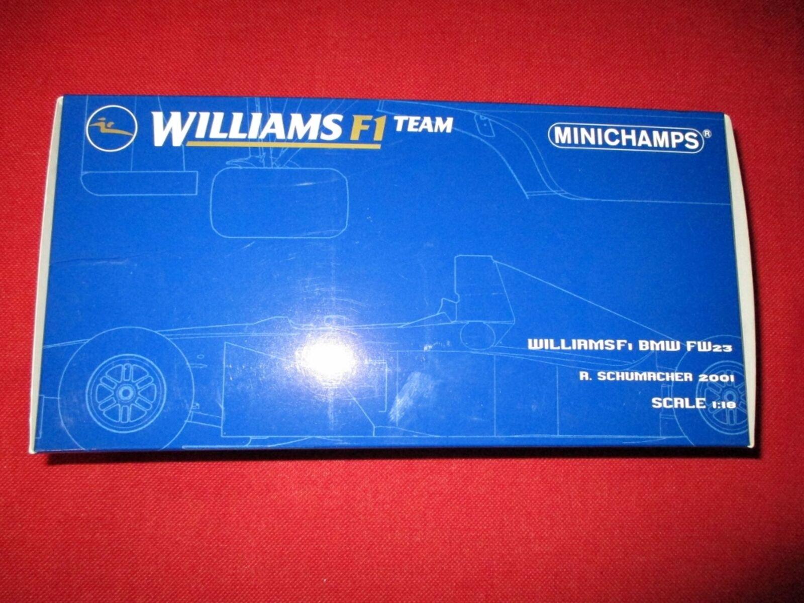 MINICHAMPS ® 100 010005 1 18 Williamsf 1 Bmw fw23 R. Schumacher 2001 Nouveau neuf dans sa boîte