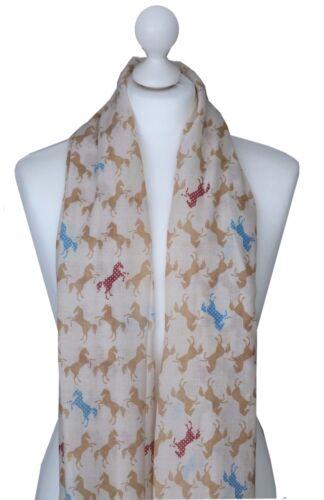 Caballo de salto de impresión bufanda señoras amantes de los animales Primavera Bufandas amigo Hermana De Regalo