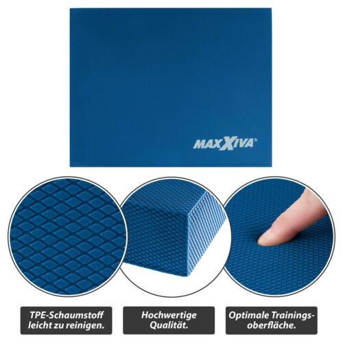 MAXXIVA Balancekissen blau Sport Fitness 50x40x6 cm Wackelpad Fitness Sitzkissen