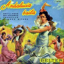 """7"""" PAQUITO SIMON JUAN GARCIA Andalucia Baila Malagueñas BELTER Flamenco EP 1960"""