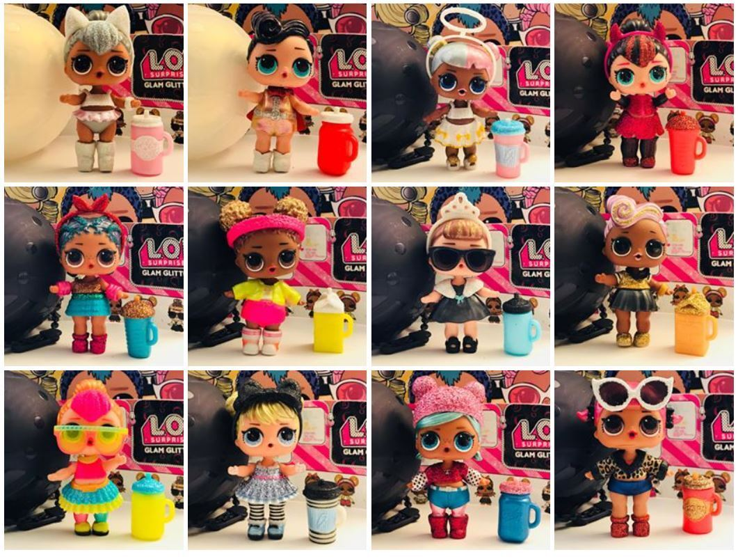 LOL SURPRISE SERIE GLITTER GLAM BLING BAMBOLA KITTY QUEEN SUGAR SPICE NEON BABY