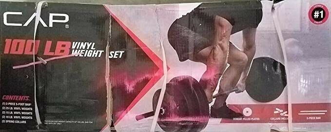 RSV1053 for sale online CAP 100lbs Weight Set Barbell