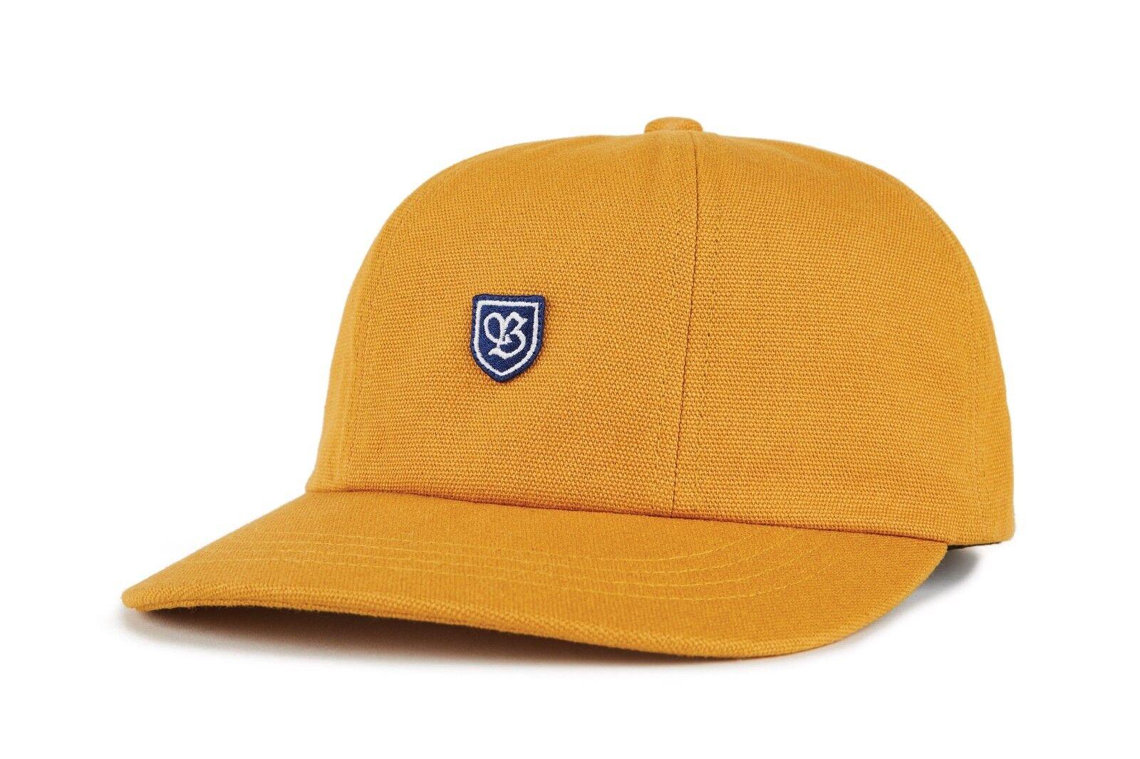 BRIXTON B SHIELD STRAPBACK CAP NEU GOLD BRIXTON SUPPLY