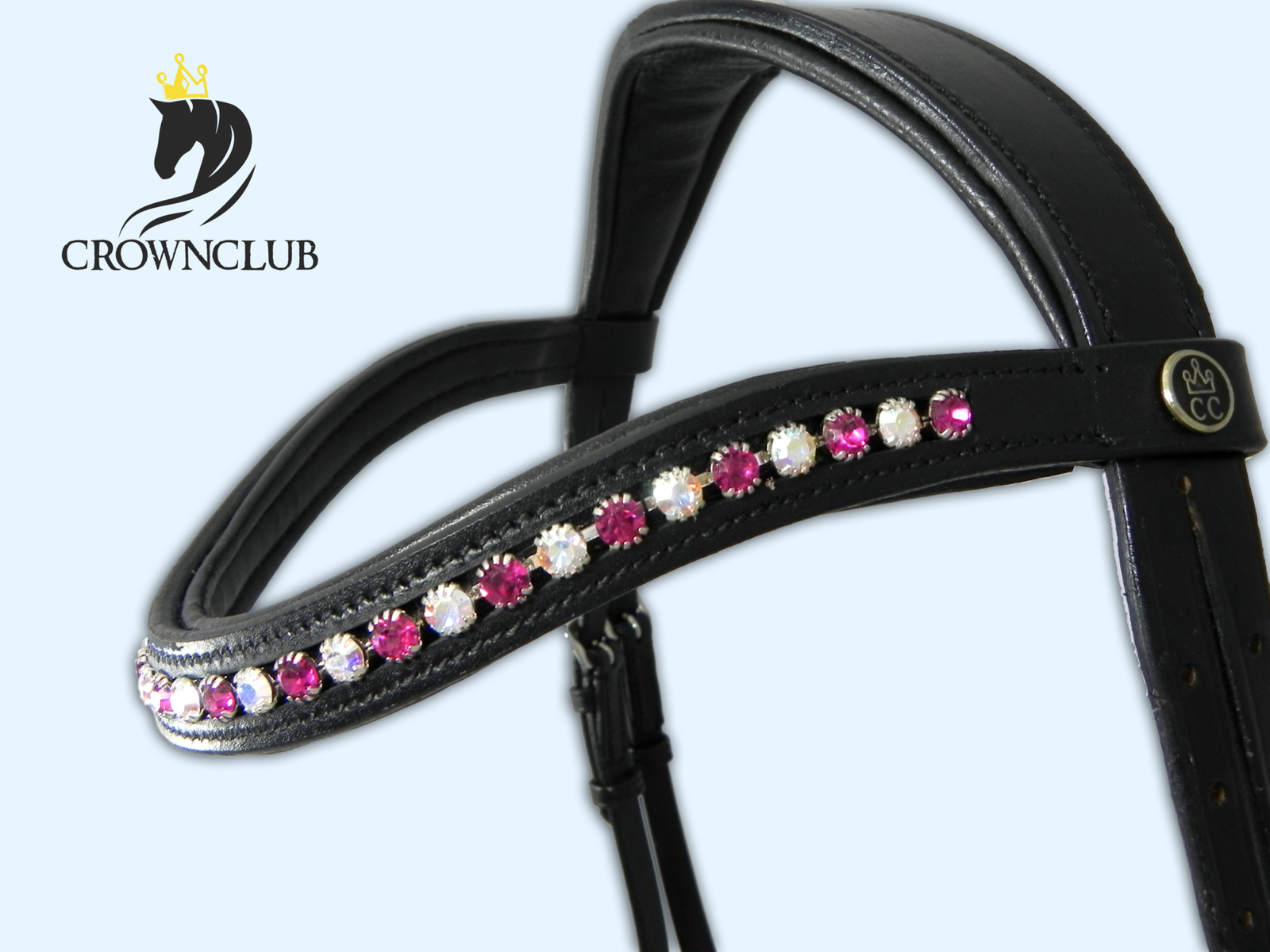rosa Glamour briglie bada-unico elegante