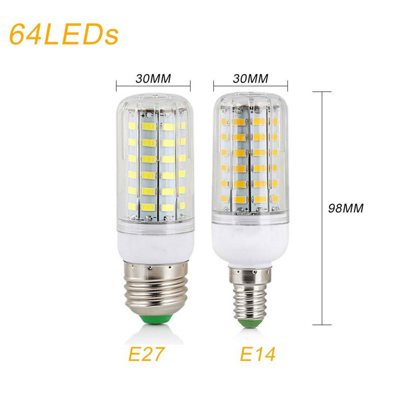 E27 E14 7W 9W 12W 15W 20W 25W 5730 SMD LED Corn Bulb Lamp Light Bright 110/220V 10