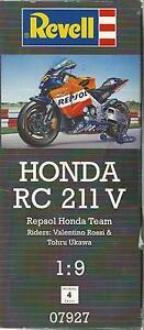 Kit Revell 1:9 Moto D'assemblage Et La Coloration Honda Rc 211 V Rossi Ukawa