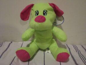 Dog Plush Toy Stuffed Animal Green Pink Animal Pals Kellytoy Nwt
