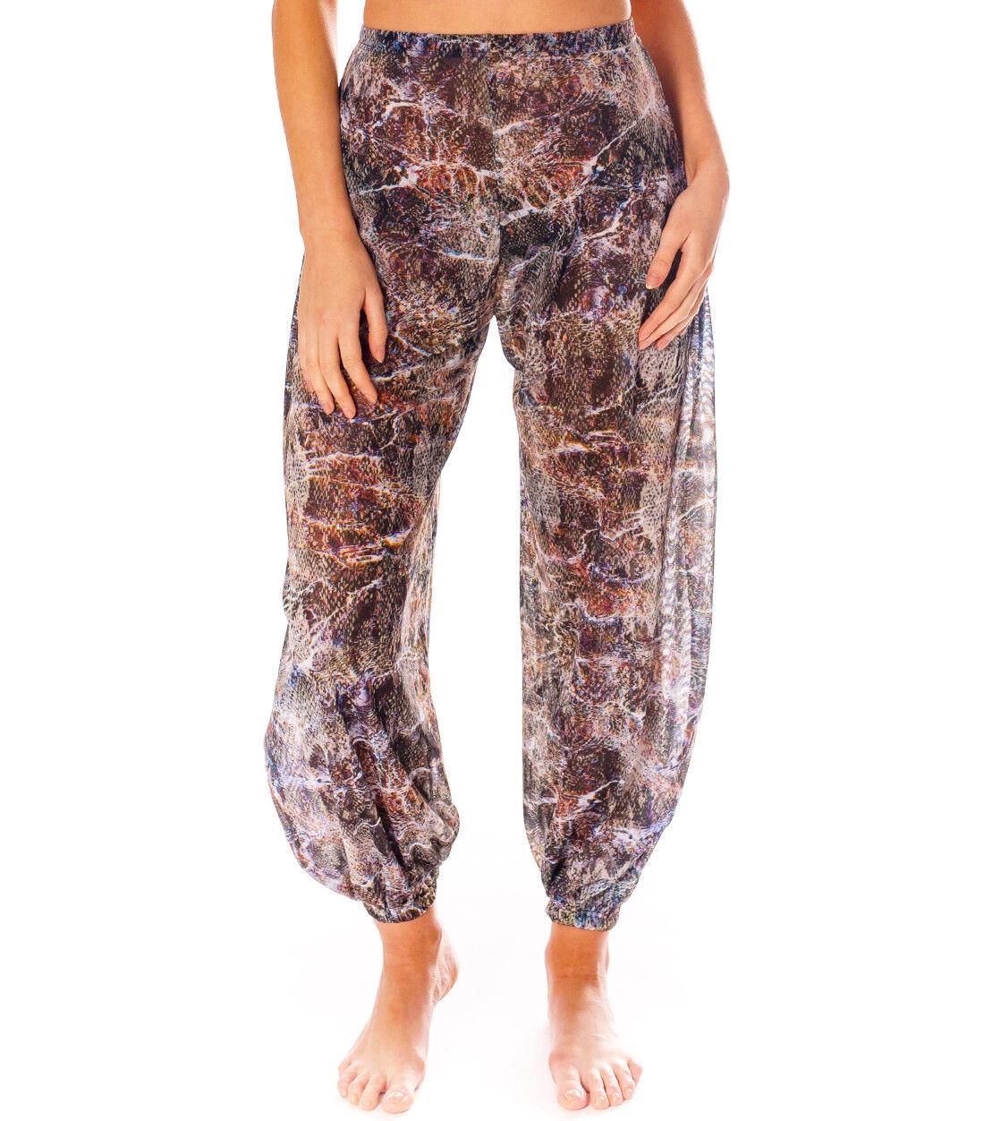 Kiniki BALI tan through Harem Pantaloni Accessorio beachwear made in England