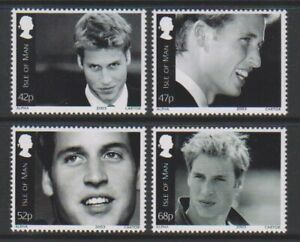 Isle-of-Man-2003-Prince-William-039-s-21st-Birthday-set-MNH-SG-1074-7
