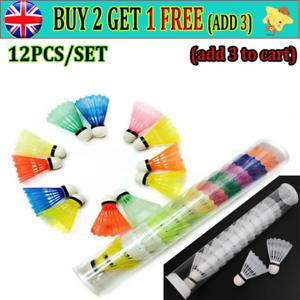 12X Colorful Plastic Shuttlecocks Badminton Foam Balls Leisure Sport Games ARR