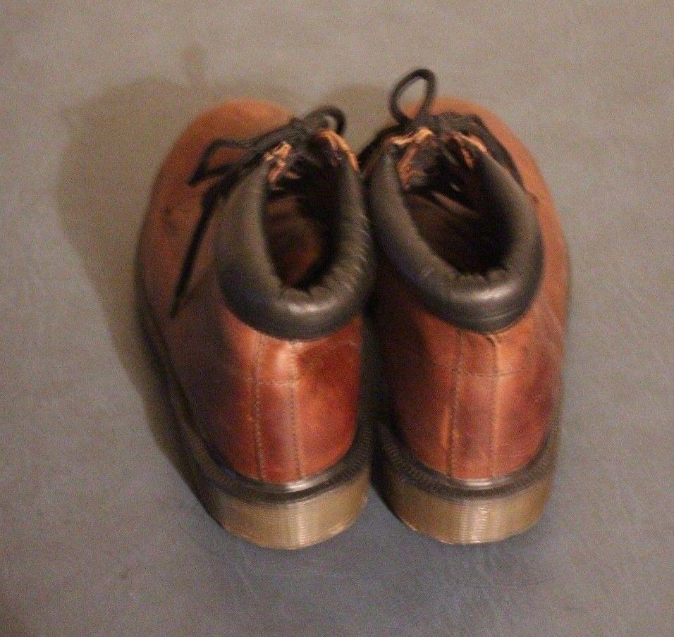 Dr Martens Damenschuhe 7751 Braun Braun Braun Leder Steel Toe Stiefel sz US 5 / UK 3 England c3a528