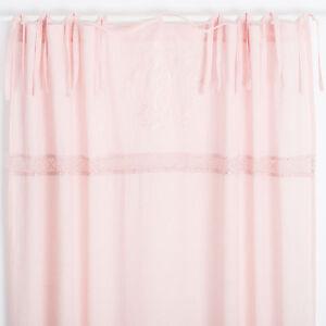 Elvira Muschel Rosa bestickt 2x(145x250cm) Gardinen Vorhänge Shabby ...
