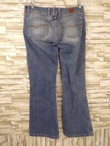 BKE-Harbo-SZ-29x31-5-DENIM-Jeans-Womens-LIGHT-WASHED-Bootcut-Frayed-CUFFS-B-7