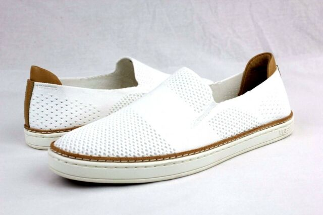 4efe914bedd UGG SAMMY KNIT AND LEATHER WHITE FASHION SNEAKER TENNIS SHOE SIZE 5.5 US