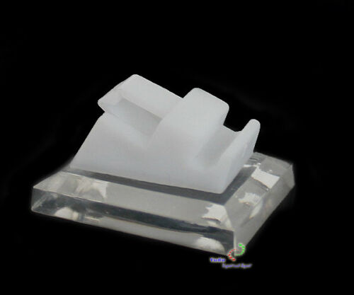 Ringständer Schmuckträger mit Klammer Ringaufsteller Acryl weiss//transparent