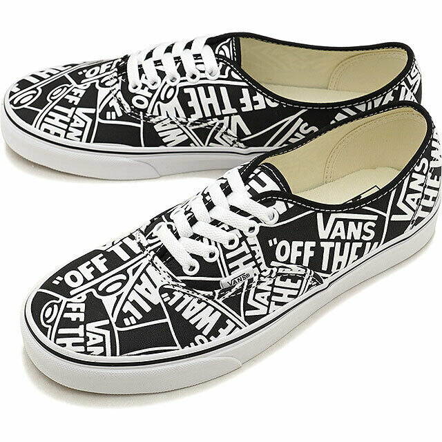 VANS Authentic OTW Repeat Black/true White Men's Classic Skate Shoes Size 9