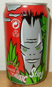 1994 COCA COLA STING Music can from GERMANY (33cl)