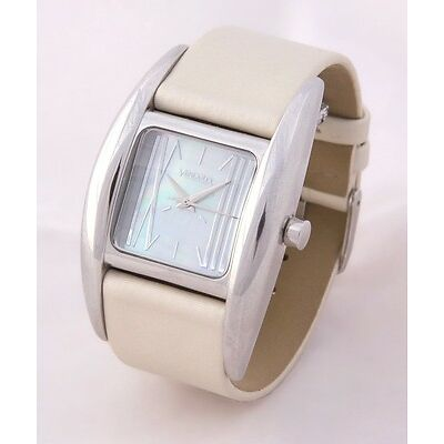 RELOJ VENDOUX MUJER ACERO LS14310 WOMENS NEW STEEL MOTHER PEARL WATCH UHR 30 M