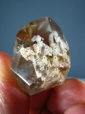 3D MINERAL INCLUSIONS IN GARDEN CLEAR  QUARTZ CRYSTAL POINT  BRAZIL TA 934