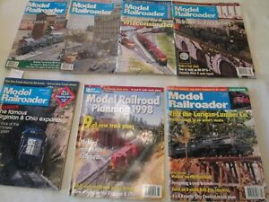Lot-of-7-ISSUES-OF-MODEL-RAILROADER-TRAIN-MAGAZINE-Years-1990-1998