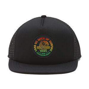 105966cea3a Vans - US OPEN of SURFING 2016 - Trucker Hat (NEW) Black Cap 420 ...