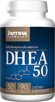 Jarrow Formulas DHEA 50, Dehydroepiandrosterone, 50 MG, 90 Capsules