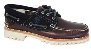 Détails sur Timberland Authentics 3 Eye Classic Lug Homme Chaussures Bateau Pont Marron 9752B D14 afficher le titre d'origine