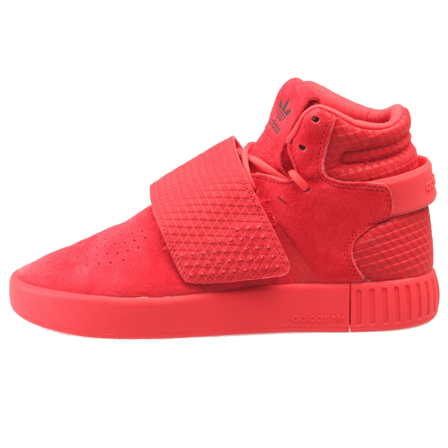 low priced bcbf9 f7869 Adidas Tubular Invader Triple Red Big Kids S80477 Ray Red Shoes Youth Size 6
