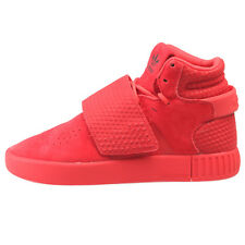 Adidas Men's Tubular Invader Strap Sesame Vivid Red Shoes