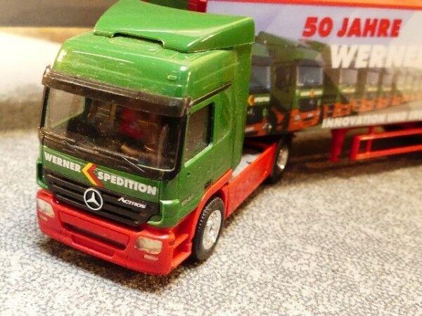 1 87 Herpa MB Actros Werner Transporteur Mallette semi-remorque