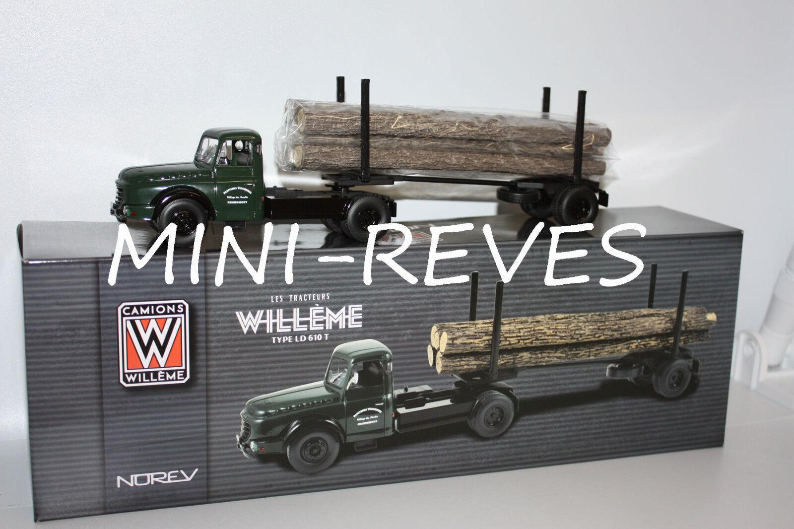 Norev Lastwagen Willeme Ld610 Anhänger Holz 1 43 879996