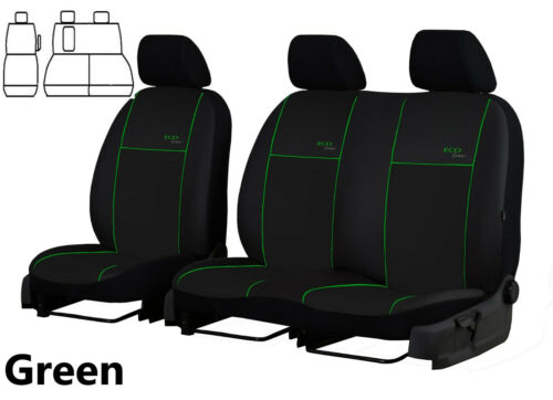 FORD TRANSIT CUSTOM VAN 2017 2018 2019 TAILORED ECO LEATHER FRONT SEAT COVERS