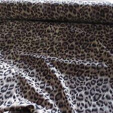 Leopard Print Polyester Dress Fabric - 150cm Wide - £2.50 per M - Free P&P